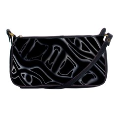 Black And White Decorative Design Shoulder Clutch Bags by Valentinaart