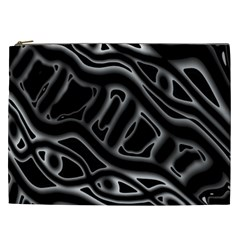 Black And White Decorative Design Cosmetic Bag (xxl)  by Valentinaart