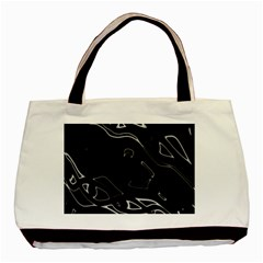 Black And White Basic Tote Bag by Valentinaart