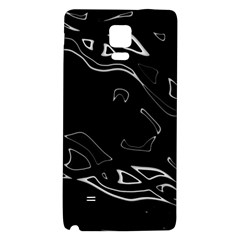 Black And White Galaxy Note 4 Back Case by Valentinaart