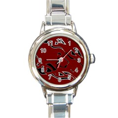 Decorative Abstract Art Round Italian Charm Watch