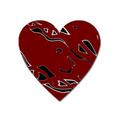 Decorative Abstract Art Heart Magnet