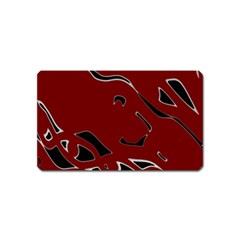 Decorative Abstract Art Magnet (name Card)
