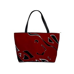 Decorative Abstract Art Shoulder Handbags by Valentinaart