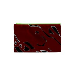 Decorative Abstract Art Cosmetic Bag (xs) by Valentinaart