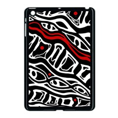 Red, Black And White Abstract Art Apple Ipad Mini Case (black) by Valentinaart