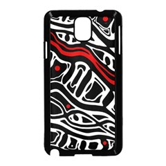 Red, Black And White Abstract Art Samsung Galaxy Note 3 Neo Hardshell Case (black) by Valentinaart