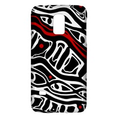 Red, Black And White Abstract Art Galaxy S5 Mini by Valentinaart