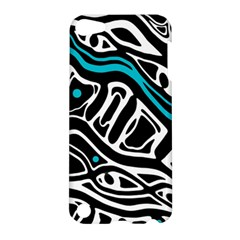 Blue, Black And White Abstract Art Apple Ipod Touch 5 Hardshell Case by Valentinaart