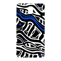 Deep Blue, Black And White Abstract Art Samsung Galaxy Note 3 N9005 Hardshell Back Case by Valentinaart