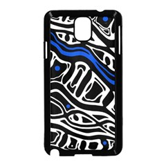 Deep Blue, Black And White Abstract Art Samsung Galaxy Note 3 Neo Hardshell Case (black) by Valentinaart