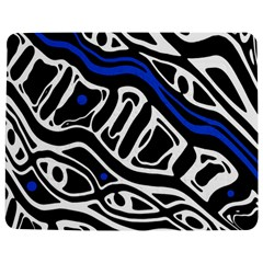 Deep Blue, Black And White Abstract Art Jigsaw Puzzle Photo Stand (rectangular) by Valentinaart
