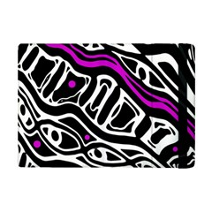 Purple, Black And White Abstract Art Ipad Mini 2 Flip Cases by Valentinaart