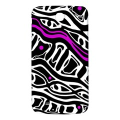 Purple, Black And White Abstract Art Samsung Galaxy Mega I9200 Hardshell Back Case