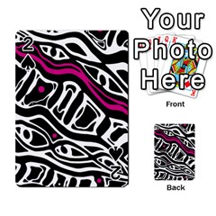 Magenta, Black And White Abstract Art Playing Cards 54 Designs  by Valentinaart