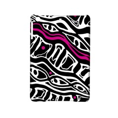 Magenta, Black And White Abstract Art Ipad Mini 2 Hardshell Cases by Valentinaart