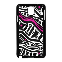 Magenta, Black And White Abstract Art Samsung Galaxy Note 3 Neo Hardshell Case (black) by Valentinaart