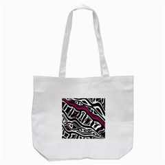 Magenta, Black And White Abstract Art Tote Bag (white) by Valentinaart