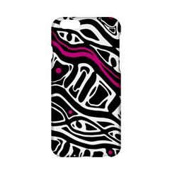 Magenta, Black And White Abstract Art Apple Iphone 6/6s Hardshell Case