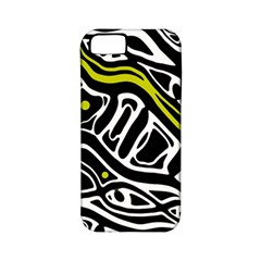 Yellow, Black And White Abstract Art Apple Iphone 5 Classic Hardshell Case (pc+silicone) by Valentinaart
