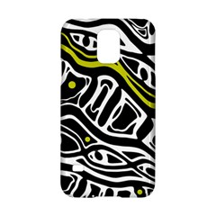Yellow, Black And White Abstract Art Samsung Galaxy S5 Hardshell Case  by Valentinaart