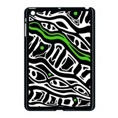 Green, Black And White Abstract Art Apple Ipad Mini Case (black) by Valentinaart