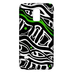Green, Black And White Abstract Art Galaxy S5 Mini by Valentinaart
