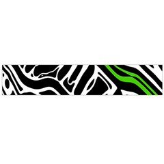 Green, Black And White Abstract Art Flano Scarf (large) by Valentinaart