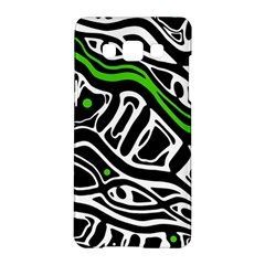 Green, Black And White Abstract Art Samsung Galaxy A5 Hardshell Case  by Valentinaart