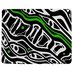 Green, Black And White Abstract Art Jigsaw Puzzle Photo Stand (rectangular) by Valentinaart