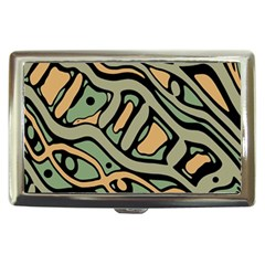 Green Abstract Art Cigarette Money Cases by Valentinaart