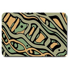 Green Abstract Art Large Doormat