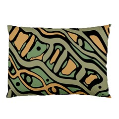 Green Abstract Art Pillow Case