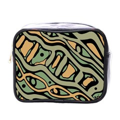 Green Abstract Art Mini Toiletries Bags by Valentinaart