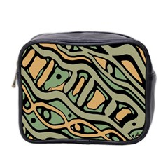 Green Abstract Art Mini Toiletries Bag 2 Side by Valentinaart