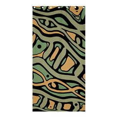 Green Abstract Art Shower Curtain 36  X 72  (stall)  by Valentinaart