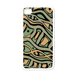 Green Abstract Art Apple Iphone 4 Case (white) by Valentinaart