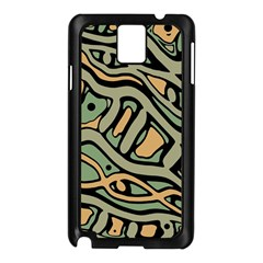 Green Abstract Art Samsung Galaxy Note 3 N9005 Case (black) by Valentinaart