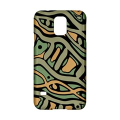 Green Abstract Art Samsung Galaxy S5 Hardshell Case  by Valentinaart