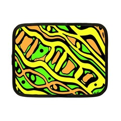 Yellow, Green And Oragne Abstract Art Netbook Case (small)  by Valentinaart
