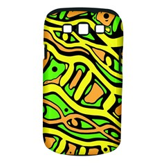 Yellow, Green And Oragne Abstract Art Samsung Galaxy S Iii Classic Hardshell Case (pc+silicone) by Valentinaart