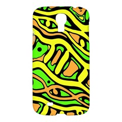 Yellow, Green And Oragne Abstract Art Samsung Galaxy S4 I9500/i9505 Hardshell Case by Valentinaart