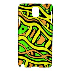 Yellow, Green And Oragne Abstract Art Samsung Galaxy Note 3 N9005 Hardshell Case by Valentinaart