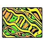 Yellow, green and oragne abstract art Double Sided Fleece Blanket (Small)  45 x34  Blanket Back