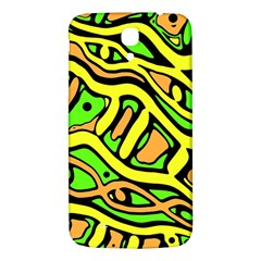 Yellow, Green And Oragne Abstract Art Samsung Galaxy Mega I9200 Hardshell Back Case