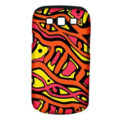 Orange Hot Abstract Art Samsung Galaxy S Iii Classic Hardshell Case (pc+silicone) by Valentinaart