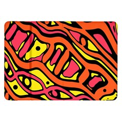 Orange Hot Abstract Art Samsung Galaxy Tab 8 9  P7300 Flip Case by Valentinaart