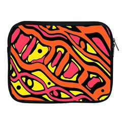 Orange Hot Abstract Art Apple Ipad 2/3/4 Zipper Cases by Valentinaart