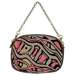 Decorative Abstract Art Chain Purses (one Side)  by Valentinaart