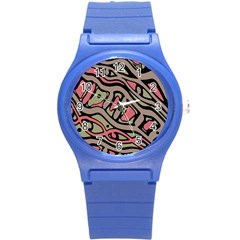 Decorative Abstract Art Round Plastic Sport Watch (s) by Valentinaart
